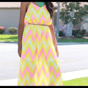 Dresses & Skirts - Neon maxi dress